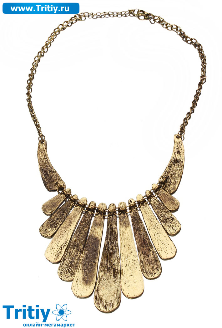Колье Кения лучи бронзовый 591799.