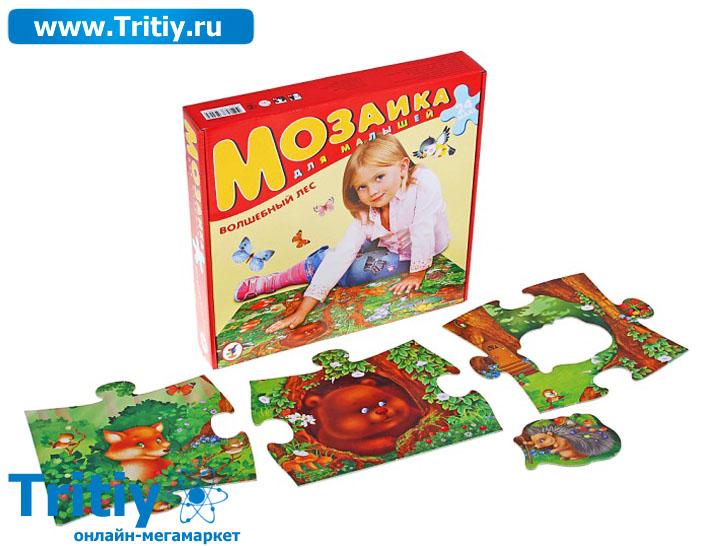 Пазл-мозаика для малышей Волшебный лес Материал: Картон Торгова